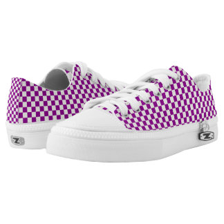 BEAUTIFUL PURPLE AND WHITE  CHEGUERED SHOES