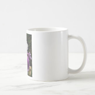 Beautiful Purple and White Iris Design Mugs