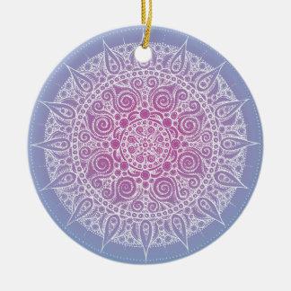 Beautiful Purple/Blue Design Christmas Ornament