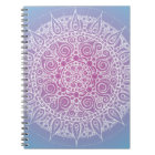 Beautiful Purple/Blue Oriental Design Notebook