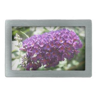Beautiful Purple Buddleia Flowers Belt Buckle