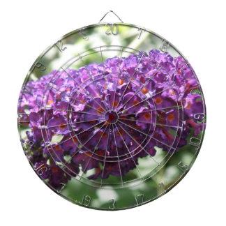 Beautiful Purple Buddleia Flowers Dart Board