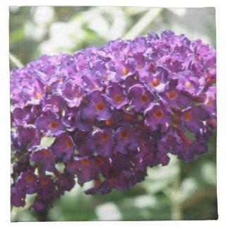 Beautiful Purple Buddleia Flowers Napkin
