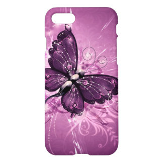 beautiful  purple buterfly swirl lines vector art iPhone 8/7 case