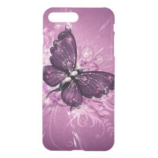 beautiful  purple buterfly swirl lines vector art iPhone 8 plus/7 plus case