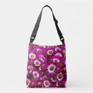 Beautiful Purple Cineraria Flowers Crossbody Bag