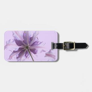 Beautiful Purple Clematis Bag Tag