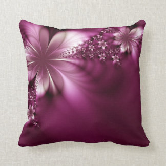 Beautiful purple floral pillow throw cushion