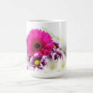 Beautiful Purple Flower Bouquet Basic White Mug
