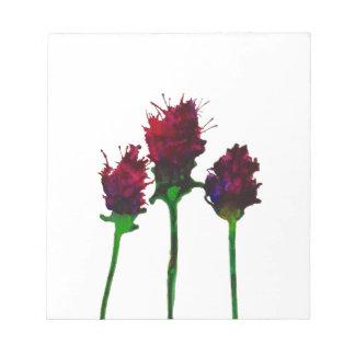 Beautiful Purple Flower Design Notepad
