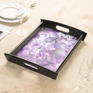 Beautiful Purple flower design Serving Tray