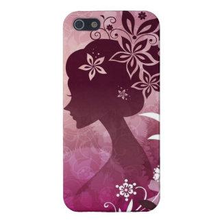 Beautiful Purple Flower Girl iPhone 5/5S Cover