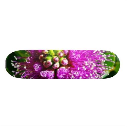 Beautiful Purple Flower Skate Board Decks