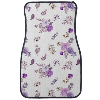 Beautiful purple flowers on car mat, shop with prints on demands,mugs,t shirt,pillows