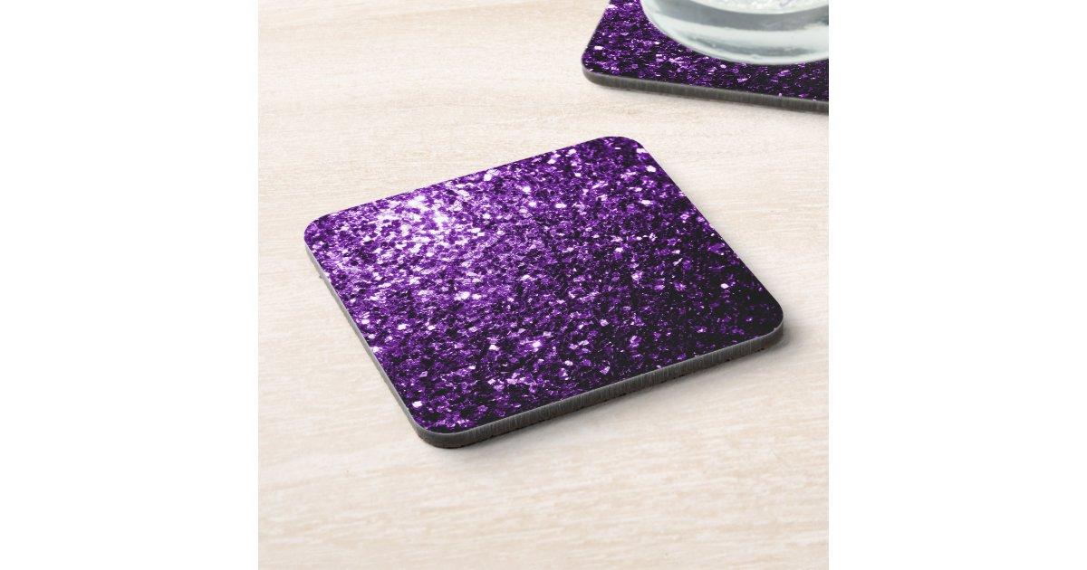 Beautiful Purple Glitter Sparkles Drink Coasters Zazzle