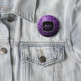 Beautiful Purple glitter sparkles Sweet 16 6 Cm Round Badge