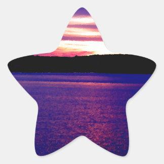 Beautiful Purple Lake Sunset Sticker