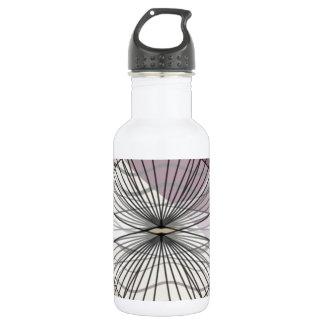 beautiful purple pattern design 532 ml water bottle