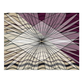 beautiful purple pattern design postcard