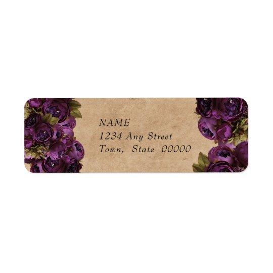 Beautiful Purple Peonies, Rustic Paper, Custom