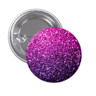 Beautiful Purple Pink Ombre glitter sparkles 3 Cm Round Badge