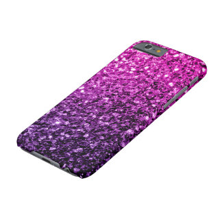 Beautiful Purple Pink Ombre glitter sparkles Barely There iPhone 6 Case