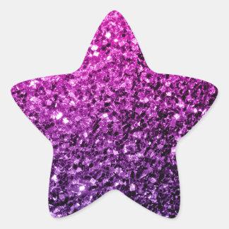Beautiful Purple Pink Ombre glitter sparkles Star Sticker