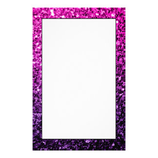 Beautiful Purple Pink Ombre glitter sparkles Stationery