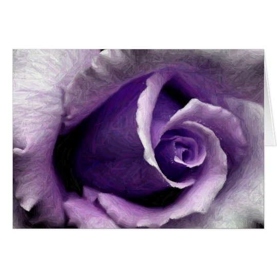 BEAUTIFUL PURPLE ROSE CARD