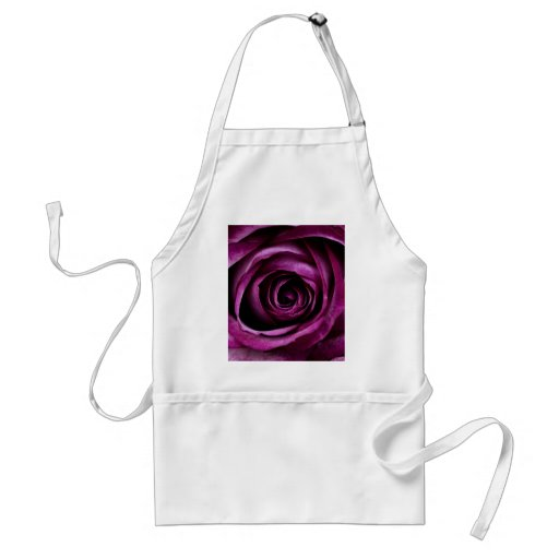 Beautiful Purple Rose Flower Petals Girly Gifts Aprons