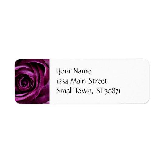 Beautiful Purple Rose Flower Petals Girly Gifts Return Address Label