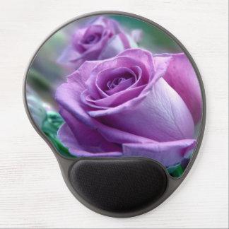 Beautiful purple roses design gel mouse mats