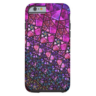 Beautiful Purple Stained Glass Pattern Case Tough iPhone 6 Case