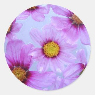 Beautiful Purple Violet Wildflower Stickers