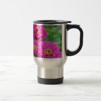 Beautiful purple zinnia flower print mug