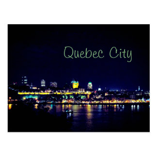 Beautiful Quebec City at Night Time Postcard