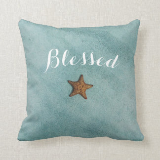 beautiful quote blessed artsy ocean starfish sea cushion