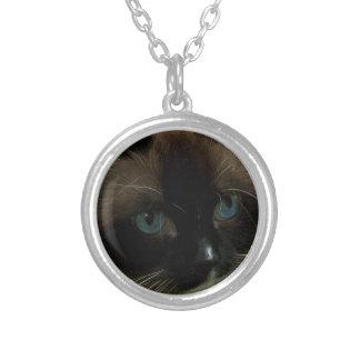 Beautiful Ragdoll Cat Round Pendant Necklace