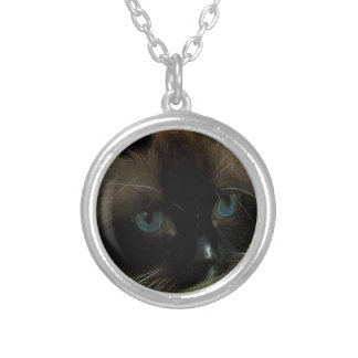 Beautiful Ragdoll Cat Silver Plated Necklace