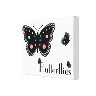 Beautiful Rainbow Butterflies Canvas Print