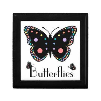 Beautiful Rainbow Butterflies Trinket Box