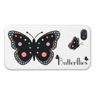 Beautiful Rainbow Butterflies iPhone 4/4S Covers