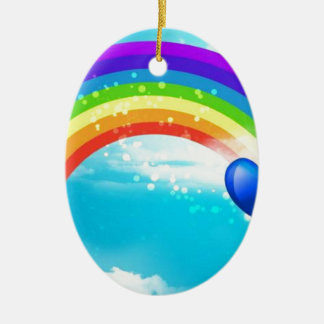 Beautiful Rainbow Christmas Ornament