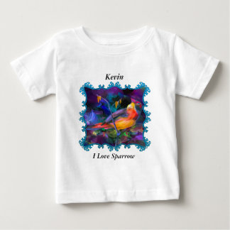 Beautiful rainbow colorful sparrow baby T-Shirt