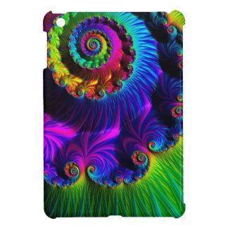 Beautiful Rainbow Fractal Cover For The iPad Mini