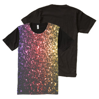 Beautiful Rainbow yellow red purple sparkles All-Over Print T-Shirt