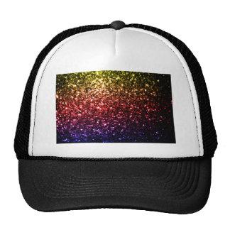 Beautiful rainbow yellow red purple sparkles cap