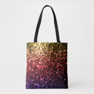 Beautiful Rainbow yellow red purple sparkles Tote Bag