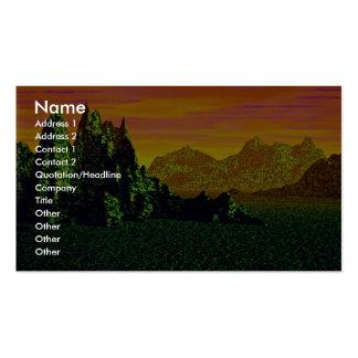 Beautiful Rainforest sunset Business Cards