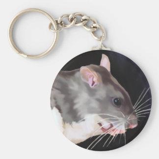 Beautiful Rat Painting Key Ring